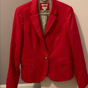 J.Crew Red Blazer Size 8 LIKE NEW